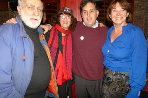 Phil Sauers (WWRF), SuZen (of Universal Peace Day & The NYC Peace Museum), Greg Reitman and Gloria